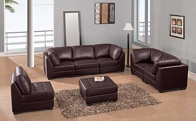 Black Leather Living Room  on F215 Leather Living Room Set
