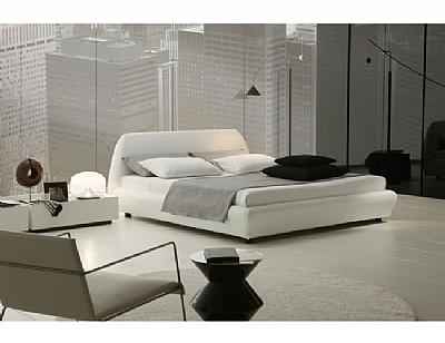 Cheap Platform Beds On Stitch Detailed Eco Leather Covered Platform