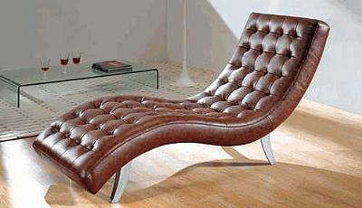 7900 brown leather relax chair for Chaise 7900