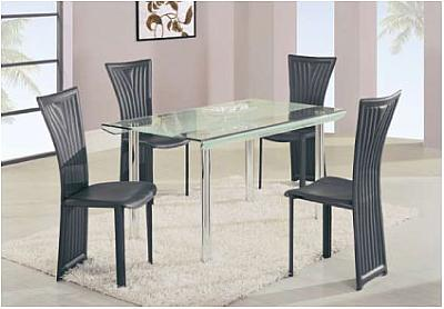 Dining room set a818ldt 1513dcbl for Complete dining room sets
