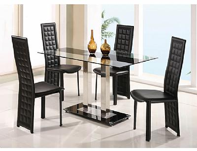 Dining room set 2108dt 027dc bl for Complete dining room sets