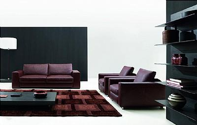 Natuzzi Leather Sofa on Natuzzi 2226 Domino Sofa   Italy